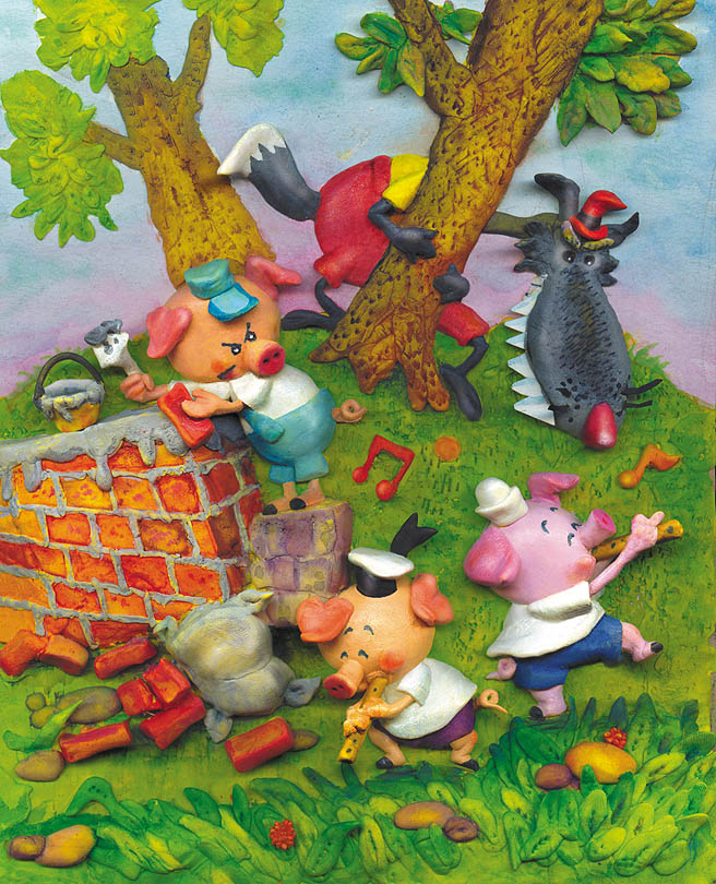Los Tres Chanchitos / Three Little Pigs
